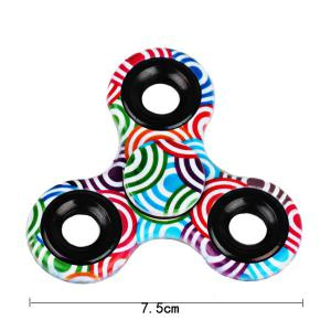 Printed Hand Stress Relief Toys Fidget Spinner - GREEN
