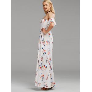 Floral Maxi Off The Shoulder Dress -