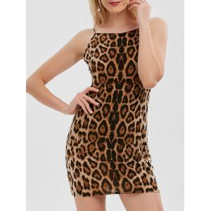 Leopard Print Cami Mini Bodycon Dress