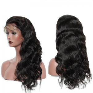 Free Part Long Loose Wave Lace Front Synthetic Wig - BLACK