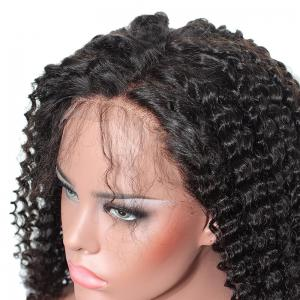 Inclined Bang Shaggy Long Afro Kinky Curly Lace Front Synthetic Wig -