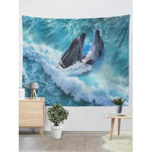 Wall Hangings Brushed Fabric Dolphins Print Tapestry