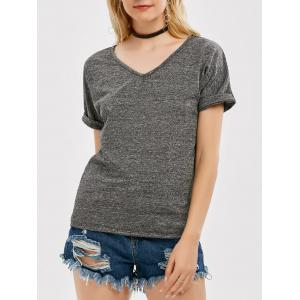 Casual V Neck T Shirt