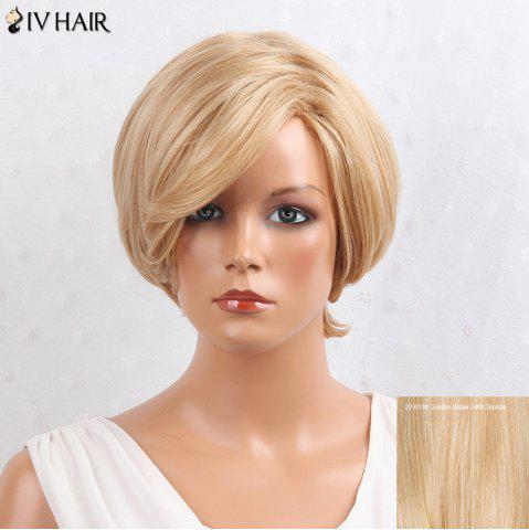 Siv Hair Layered Inclined Bang Short Straight Human Hair Wig 27/613# u0417u043eu043bu043eu0442u043eu043au043eu0440u0438u0447u043du0435u0432u044bu0439 u0421 u0411u043bu043eu043du0434u0438u043du043eu043c