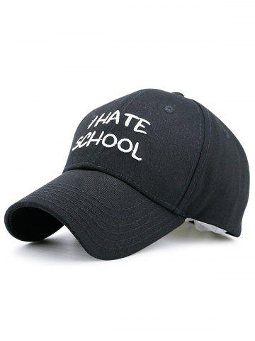 Trendy I Hate School Embroidery Baseball Hat