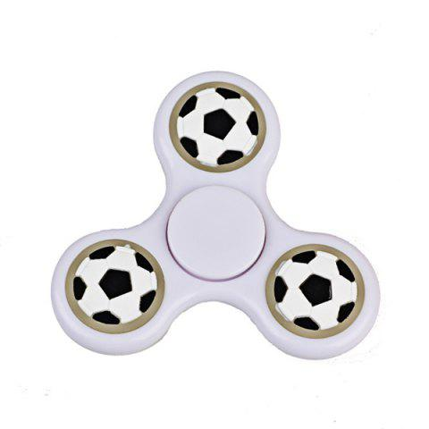 Sale Football Glow in the dark Focus Toy Fidget Spinner - WHITE  Mobile