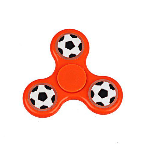 Hot Football Glow in the dark Focus Toy Fidget Spinner - ORANGE  Mobile