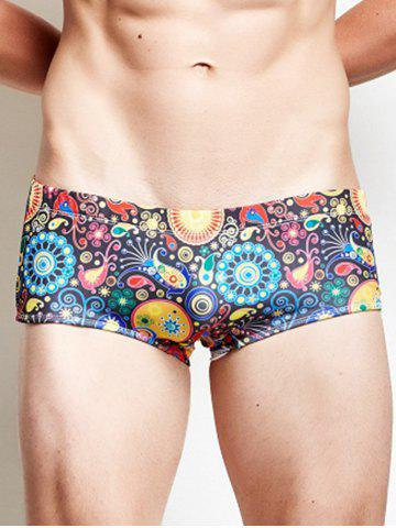 Buy Low Rise Print Boxer Swimming Trunks - 2XL COLORMIX Mobile