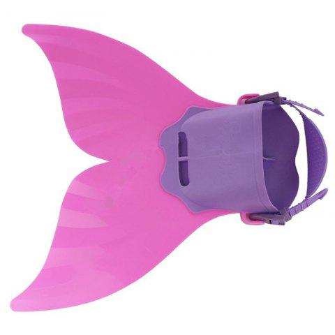 Cheap Adjustable Mermaid Swimming Fins for Adult - PINK  Mobile