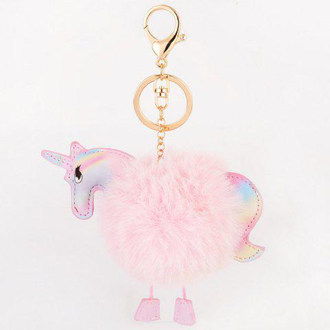 Fashion Fuzzy Ball Unicorn Key Chain