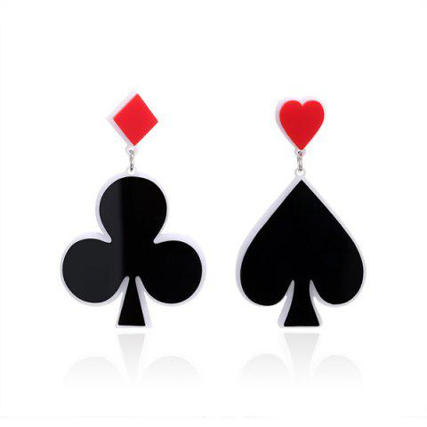 Outfits Poker Heart Geometric Funny Earrings