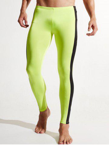 Stripe Contraste Dry Dry Athletic Pants Pomme Verte 2XL