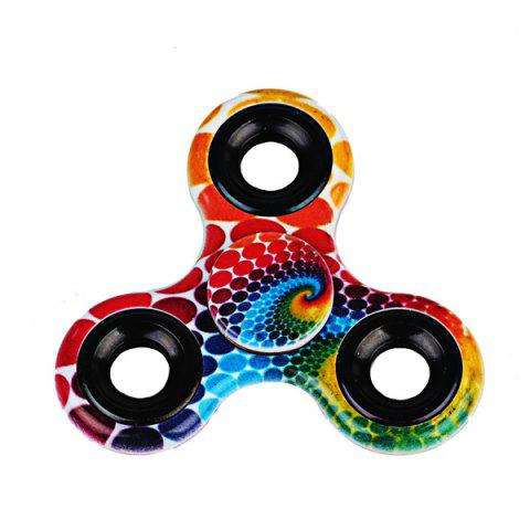 Sale Printed Hand Stress Relief Toys Fidget Spinner RED