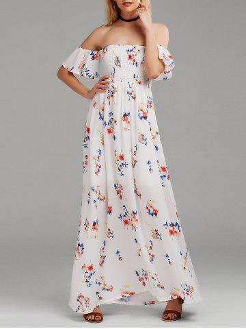 Floral Maxi Off The Shoulder Dress