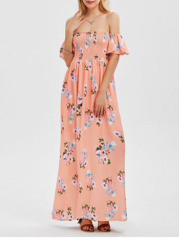 Floral Long Off The Shoulder Dress Formal