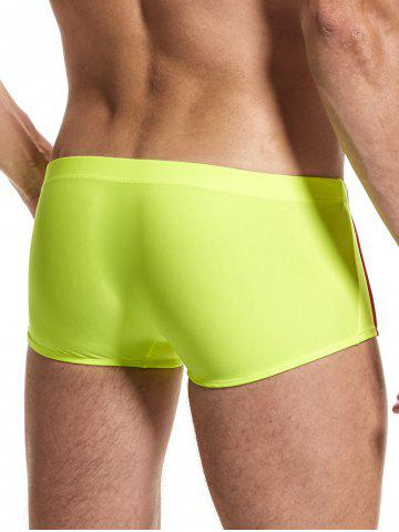 Best Stripe Low Rise Boxers Surfing Swimming Trunks - 2XL APPLE GREEN Mobile