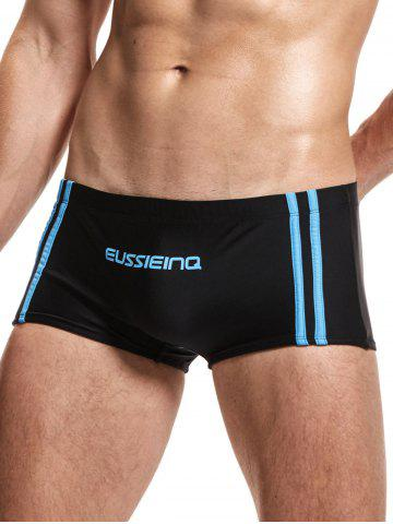 Outfits Stripe Low Rise Boxers Surfing Swimming Trunks - 2XL BLACK Mobile