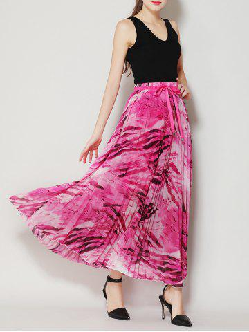 Outfit High Waist Pleated Midi Skirt with Bowknot - ONE SIZE TUTTI FRUTTI Mobile
