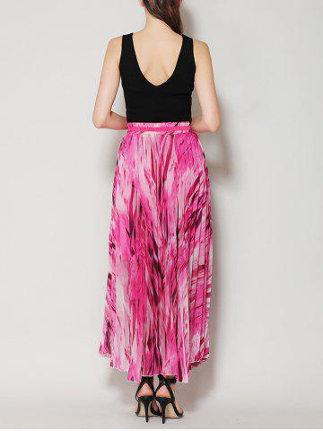 Discount High Waist Pleated Midi Skirt with Bowknot - ONE SIZE TUTTI FRUTTI Mobile