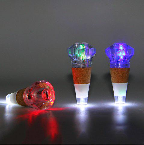 Fancy Diamond Shape Bottle Stopper with USB Charging Colorful Night Light - TRANSPARENT  Mobile