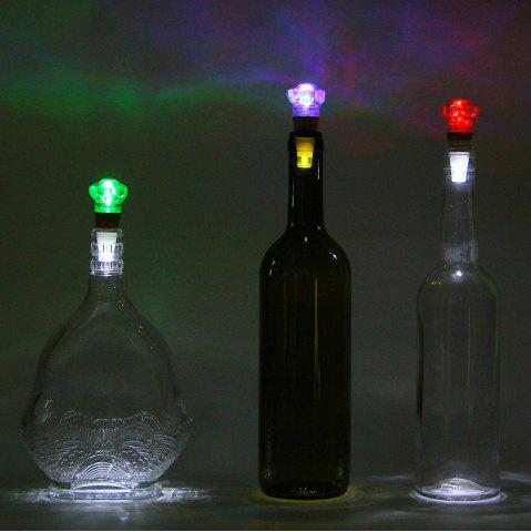 Affordable Diamond Shape Bottle Stopper with USB Charging Colorful Night Light - TRANSPARENT  Mobile