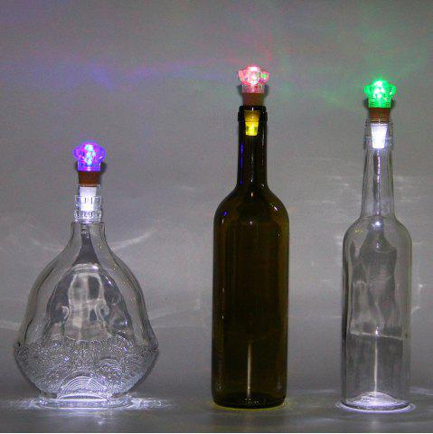 Shops Diamond Shape Bottle Stopper with USB Charging Colorful Night Light - TRANSPARENT  Mobile