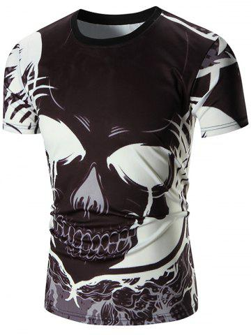 Outfits Devil Printed Crew Neck Tee - L BLACK Mobile