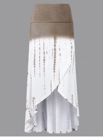 Discount Ombre High Low Skirt - L COLORMIX Mobile