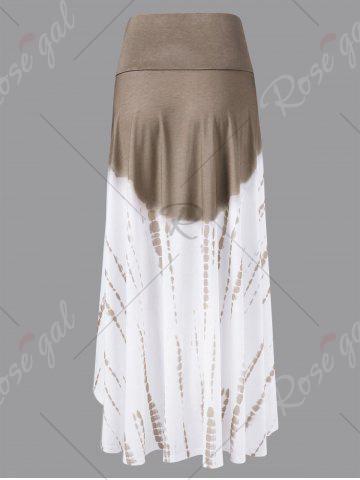 Cheap Ombre High Low Skirt - 2XL COLORMIX Mobile