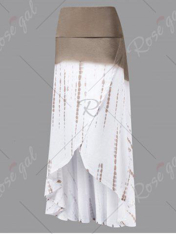 Best Ombre High Low Skirt - 2XL COLORMIX Mobile