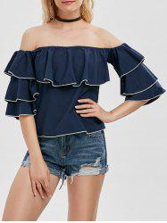 Off The Shoulder Layer Flounce Blouse