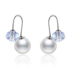Rhinestone Faux Pearl Embellished Earrings