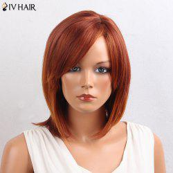 Siv Hair Inclined Bang Straight Bob Short Human Hair Wig