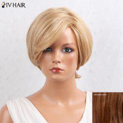 Siv Hair Layered Inclined Bang Short Straight Human Hair Wig -
