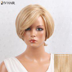 Siv Hair Layered Inclined Bang Short Straight Human Hair Wig