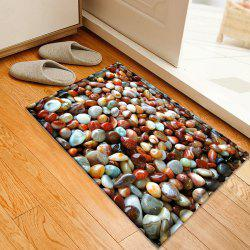 Sea Stone Pattern Water Absorbing Bathroom Floor Mat
