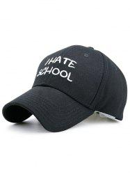 I Hate School Embroidery Baseball Hat -