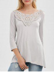Long Sleeve Lace Insert Tunic Tee