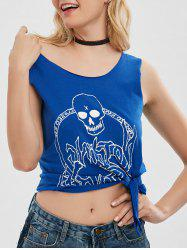 Skull Print Graphic Top