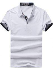 Short Sleeves Half Button Polo Shirt