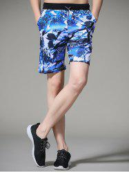 Floral Printed Leopard Board Shorts
