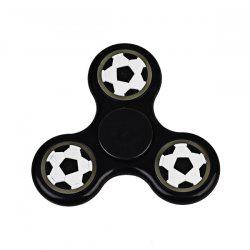 Football Glow in the dark Focus Toy Fidget Spinner - BLACK