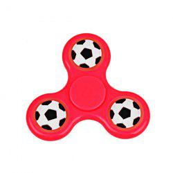Football Glow in the dark Focus Toy Fidget Spinner - Rouge