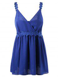 Laced Chiffon Plus Size Slip Dress