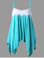 Applique Asymmetrical Camis - CYAN