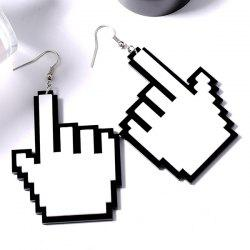Novelty Hand Gesture Hook Earrings