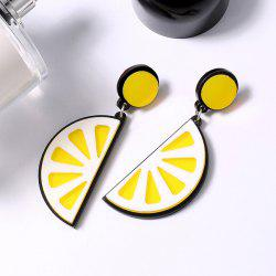 Fruit Lemon Shape Drop Earrings - YELLOW