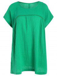 Casual Short Sleeve Plus Size Tunic Top