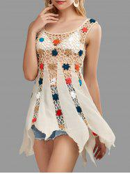 Crochet Floral Cover Up Tunic Top