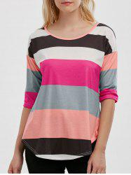 Stripe Dovetail Tunic Tee